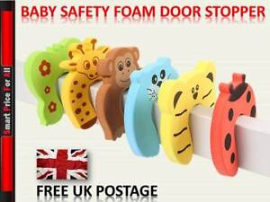 Safety Foam Door Jammer Guard Finger Protector Stoppers - Animal Designs😍