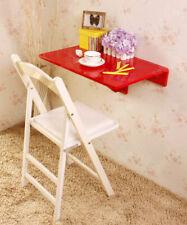 SoBuy® Folding Wood Wall-mounted Drop-leaf Table Desk, 60x40cm, Red, FWT03-R,UK