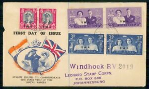 Mayfairstamps SOUTH AFRICA FDC 1947 COVER ROYAL VISIT 2 PAIRS wwi97477