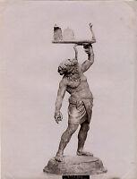 Italia Scultura Silene Museo Da Napoli Albumina Vintage Albume D'Uovo Ca 1880