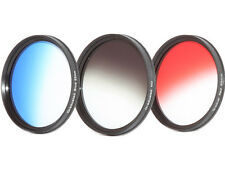 Farbfilter Verlauffsfilterset ROT + BLAU + ND GRAU Verlaufsfilter 58mm 58mm