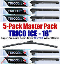"5 Pack 18"" WINTER Wiper Blades Super-Premium Beam-Style Trico ICE 35-180 (x5)"