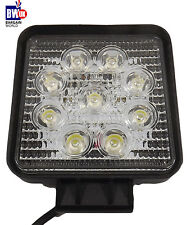 27w 9 LED Driving Work Light Flood Lamp Offroad CAR  SUV ATV Jeep 4x4 WD Square