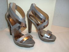 Coach Womens A3723 NWB Brynn Cuba Metal Pewter Sandals Shoes 6 MED NEW