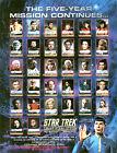 STAR TREK ORIGINAL SERIES 2 SKYBOX AUTOGRAPH SHEET 8x10 & 2 PROMO CARDS 3.5x2.5+