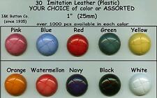 "30 LARGE Shank Buttons 1"" Assorted Colors or YOUR CHOICE 25mm costumes, clothes"