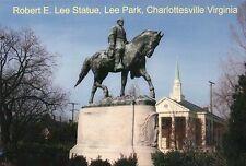 Robert E. Lee Statue, Lee Park Charlottesville Virginia VA, Civil War - Postcard
