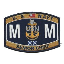 United States Navy SENIOR CHIEF MACHINIST MATE Rating Patch MMCS Military Patch