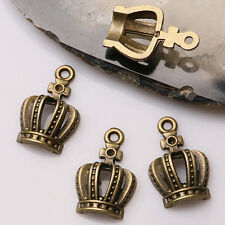 8pcs antiqued bronze color crafted crown design  charms  EF3467