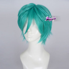 Turquoise Green Short Layered Hair Anime Cosplay Wig