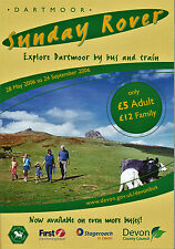 DARTMOOR SUNDAY ROVER bus timetable May-Sept 2006 First Stagecoach Devon map