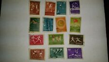 RUSSIA, Lot of (14) used, Hinged Stamps, 1956 - Sport