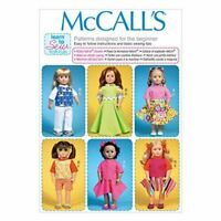 """McCalls Sewing Pattern 7106 18"""" Doll Clothes Skirt Pants Top One Size Uncut"""