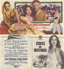 Programa de CINE. Título película: CRUCE DE DESTINOS.