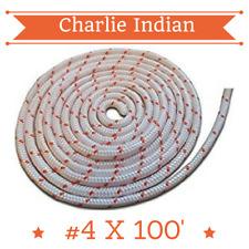 #4 - 1/8 Dia. (3.1mm) X 100' Premium Smooth Braid Nylon Recoil Rope (11738)