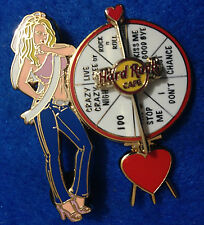 New listing Sexy Blonde Bachelorette Party Girl Spinning Wheel Phrases Hard Rock Cafe Pin Le