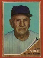 1962 Topps #29 Casey Stengel VG-VGEX+ Wrinkle New York Mets FREE SHIPPING