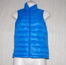 TNA Blue Sleeveless Quilted Jacket  Duck And Feather Down Women Vest Size:XXS