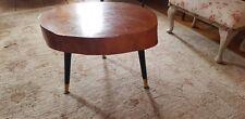 Retro Teak Vintage Atomic Sliced Log Coffee Table 1960s g plan ercol era