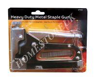HEAVY DUTY METAL OR MEDUIM DUTY STAPLER GUN OR 2400pcs STAPLES DIY UPHOLSTERY