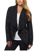 BNCI Womens Tweed Drape Front Shawl Collar Cardigan - M / L / XXL - VARIETY