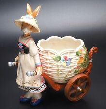 Fitz And Floyd Old World Rabbits Cache Pot-New In Box