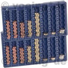 2x Euro-Münzbrett Rähmchen Münzsortierer Münzenbrett 8 Schächte Münz-Sortierer