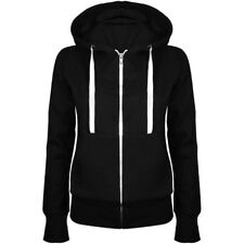 Fashion Ladies Men Plain Zip Up Fleece Hoody Sweat/shirt Coat Jacket Top Hoodies