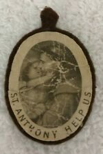 Vintage St. Anthony Help Us Felt Patch - Religious