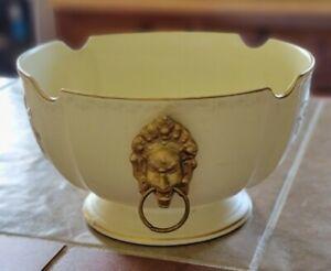 Vintage Lion Head Soup Tureen fruit bowl large pottery numbered