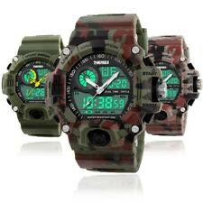 Men's Boys G Type Analog-Digital Date Waterproof Army CAMO S-Shock Sports Watch