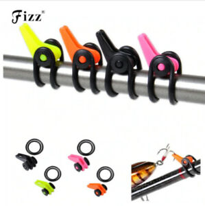 5pcs Set Easy Safe Adjustable Fishing Lure Hook Keeper Holder For Rod 4 Colours