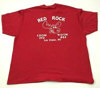 VINTAGE Red Rock Las Vegas Shirt Men's Size Extra Large Red Short Sleeve Tee 90s