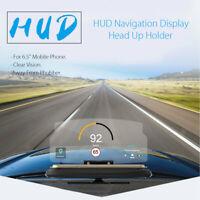 6.5'' HUD Head Up Display Navigation Projecteur Support Pour iPhone Samsung GPS