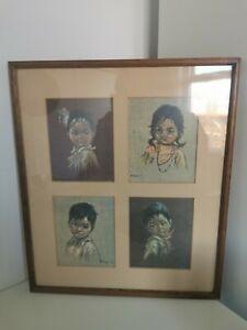 Vintage Framed Images Of Children By Artist Francis