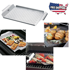 Grill Pan Stainless Steel, Dishwasher Safe, Great for Charcoal or Gas Grills New