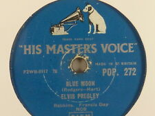 ELVIS PRESLEY- Blue Moon / I don't care, .. 78rpm HMV-Schellackplatte, R.& R.