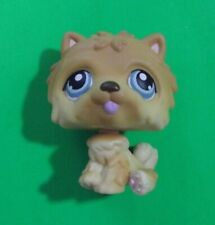 Littlest Pet Shop - Lps - Chow Chow Dog - Orange & Yellow w/ Blue Eyes - Used