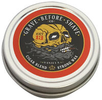 Grave Before Shave Cigar Blend Strong Hold Mustache Wax 1 OZ. Tin