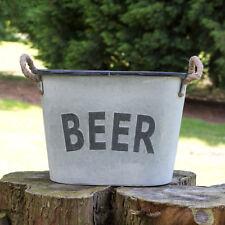 Cerveza de metal grande de estilo vintage y retro Cubo de Hielo Enfriador de Botellas Vino Champán Jardín