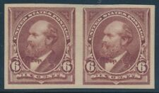 #271P5 6c 1895 PAIR PLATE PROOF ON STAMP PAPER XF-SUPERB OG LH GEM BV880