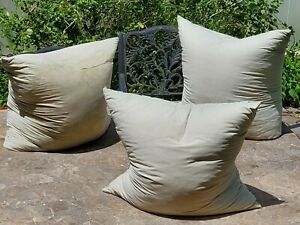 """Russian style goose down pillows 31.5""""x31.5"""" 5-6 pounds each Organic Soft Cotton"""