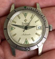 NICE Vintage Zodiac Seawolf Automatic Mens Divers Watch Stainless Steel Running