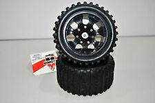 08010NBL Coppia Ruote Complete Black Off-Road 1/10 Himoto Esagono Interno 12mm