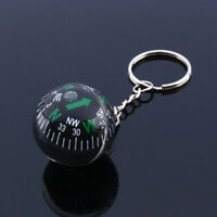 KE_ FT- Creative Ball Compass Pendant Unisex Keychain Car Key Ring Hanging Dec