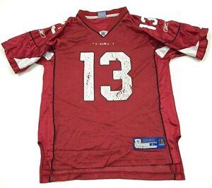 Reebok Kurt Warner Arizona Cardinals Football Jersey Youth Size Large L Red NFL