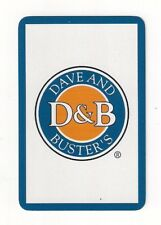 bridge deck playing cards advertising D&B, Dave and Buster's, restaurant, arcade