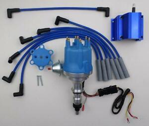 small cap FORD 240 300 INLINE 6 1965-76 HEI Distributor + 50k COIL + Plug Wires