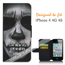 Apple iPhone 4 4G 4S Wallet Flip Phone Case Cover Night Crawler Y00754