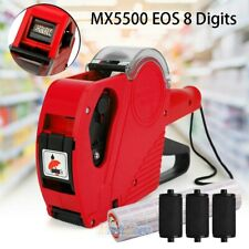 8 Digits Price Tag Gun Mx5500 Eos w/ Sticker Labels & Ink Refill for Retail Shop